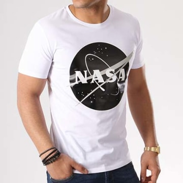 NASA - Tee Shirt Insignia Front Desaturate Blanc