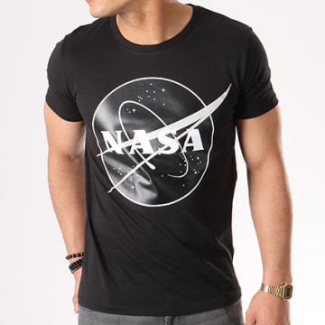 NASA - Tee Shirt Insignia Front Desaturate Noir