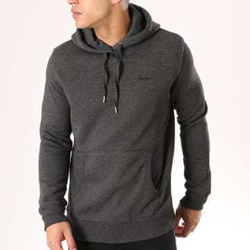 Pepe Jeans - Sweat Capuche Thru Gris Anthracite Chiné