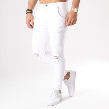 Jean Skinny Troué Distressed 13121 Blanc