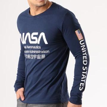 NASA - Tee Shirt Manches Longues Admin Bleu Marine