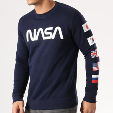 NASA - Sweat Crewneck Flags Bleu Marine