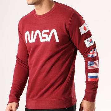 NASA - Sweat Crewneck Flags Bordeaux