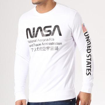 NASA - Sweat Crewneck Admin Blanc