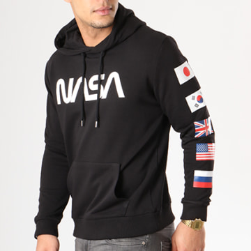 NASA - Sweat Capuche Flags Noir