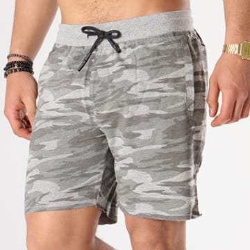 Short Jogging Crews Gris Camouflage