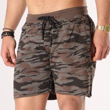 Brave Soul - Short Jogging Crews Vert Kaki Camouflage