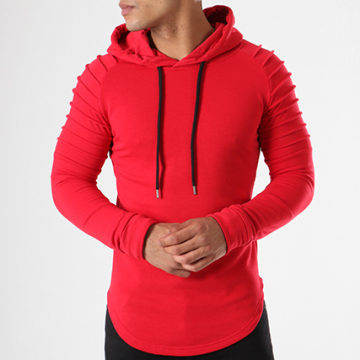 Sweat Capuche Oversize 410 Rouge