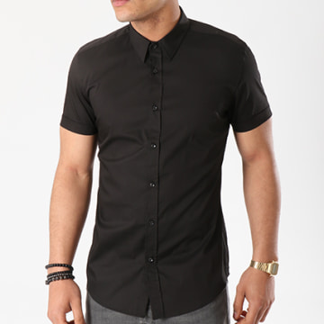 Chemise Manches Courtes MMSS00110 Noir