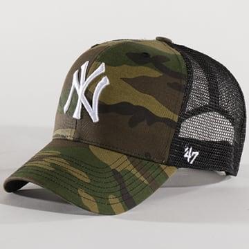 '47 Brand - Casquette Trucker MLB New York Yankees MVP CBRAN17GWP Camouflage Vert Kaki Noir