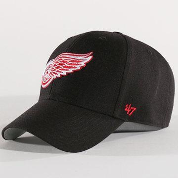 '47 Brand - Casquette NHL Detroit Redwings MVP 05WBV Noir