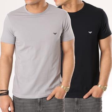 Lot De 2 Tee Shirts 111267-CC717 Noir Gris