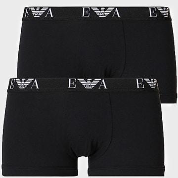 Emporio Armani - Lot De 2 Boxers 111210-CC715 Noir Blanc