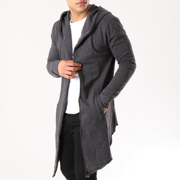 Urban Classics - Gilet Oversize TB1389 Gris Anthracite Chiné