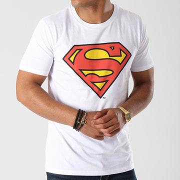 DC Comics - Tee Shirt Superman Classic Logo Blanc