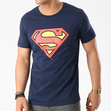 DC Comics - Tee Shirt Superman Logo Bleu Marine