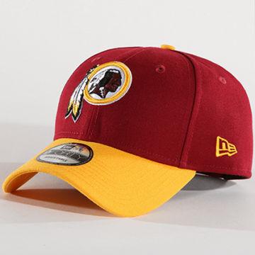 New Era - Casquette Washington Redskins The League 10517864 Bordeaux Jaune