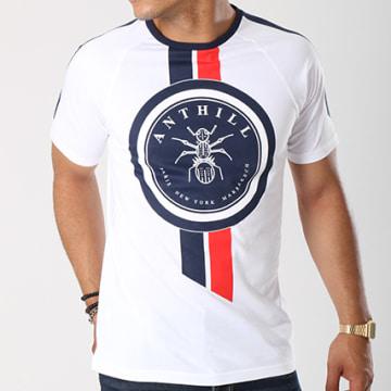 Tee Shirt Seal Blanc Bleu Marine