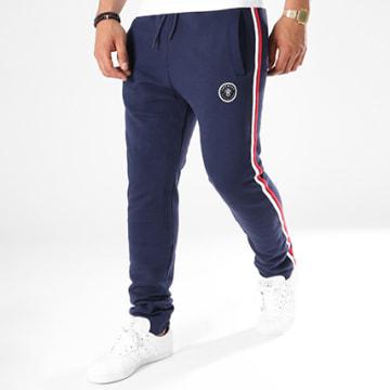 Anthill - Pantalon Jogging Avec Bandes Line Bleu Marine