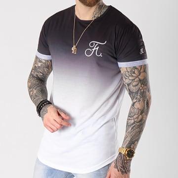 Tee Shirt Oversize Dégradé Avec Broderie 052 Noir Et Blanc