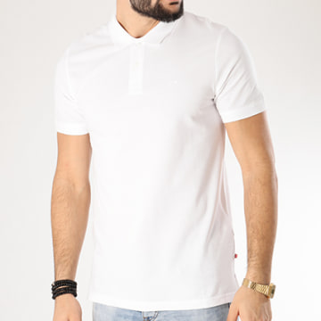 Jack And Jones - Polo Manches Courtes Basic Blanc
