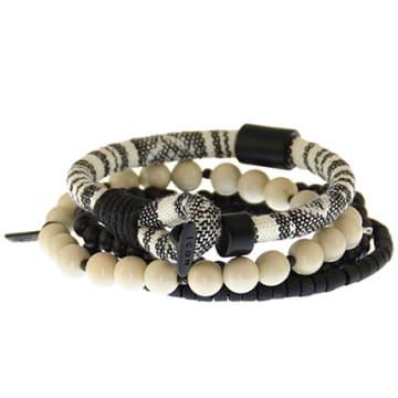 Lot De 4 Bracelets Parthian Noir Ecru