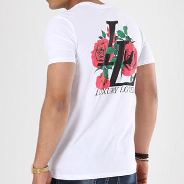 Luxury Lovers - Tee Shirt Emblem Blanc