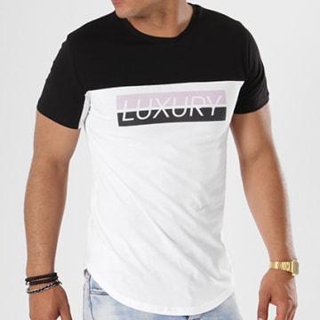 Tee Shirt Oversize Box Bicolore Blanc Noir