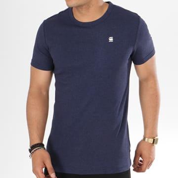 G-Star - Tee Shirt Daplin D09387-1141 Bleu Marine Chiné