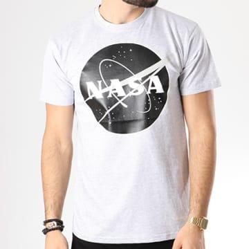 NASA - Tee Shirt Insignia Front Desaturate Gris Chiné