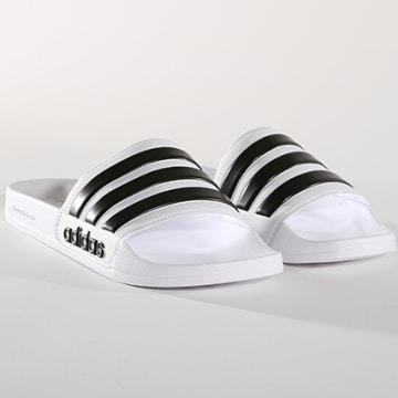 Adidas Originals - Claquettes Adilette Shower AQ1702 Blanc Noir