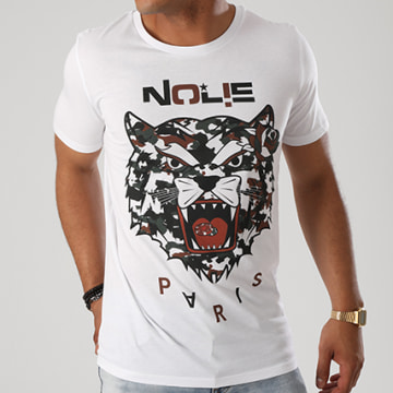 Dabs - Tee Shirt Tiger Blanc Camouflage