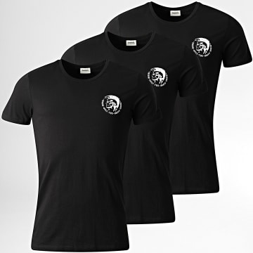 Diesel - Lot De 3 Tee Shirts All Timers 00SJ5L-0TANL Noir