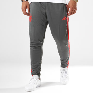 Pantalon Jogging Bandes Brodées FC Bayern München CW7260 Gris Anthracite Rouge