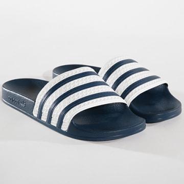 Adidas Originals - Claquettes adilette G16220 Adiblue White