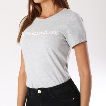 Calvin Klein - Tee Shirt Femme 7879 Gris Chiné
