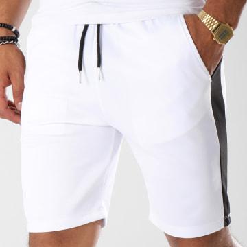 Aarhon - Short Jogging 210 Avec Bande Blanc Noir