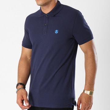 Selected - Polo Manches Courtes Haro Embroidery Bleu Marine