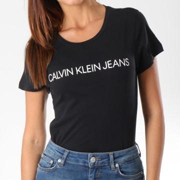 Calvin Klein - Tee Shirt Femme 7879 Noir