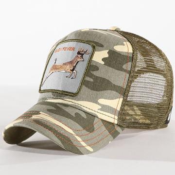 Goorin Bros - Casquette Trucker Buck Fever Vert Kaki Camouflage