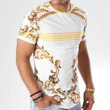 Uniplay - Tee Shirt Oversize UP-321 Blanc Doré Renaissance