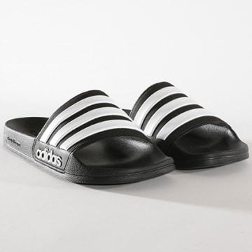 Adidas Originals - Claquettes Adilette Shower AQ1701 Noir Blanc
