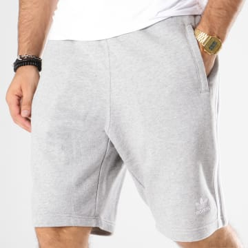 Adidas Originals - Short Jogging Bandes Brodées 3 Stripes DH5803 Gris Chiné