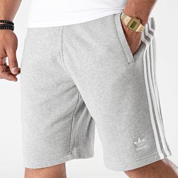 Adidas Originals - Short Jogging Bandes Brodées 3 Stripes DH5803 Gris Chiné