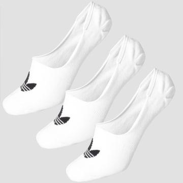 Adidas Originals - Lot De 3 Paires De Chaussettes Invisibles Show CV5941 Blanc
