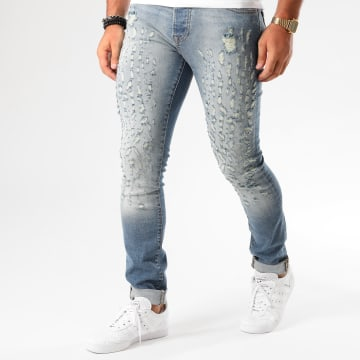 GRJ Denim - Jean Slim 12918-3 Bleu Denim