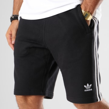 Adidas Originals - Short Jogging Bandes Brodées 3 Stripes DH5798 Noir Blanc