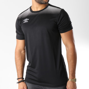 Umbro - Tee Shirt De Sport Print Jersey Noir Blanc