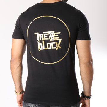 13 Block - Tee Shirt Essaye De Briller Noir Doré
