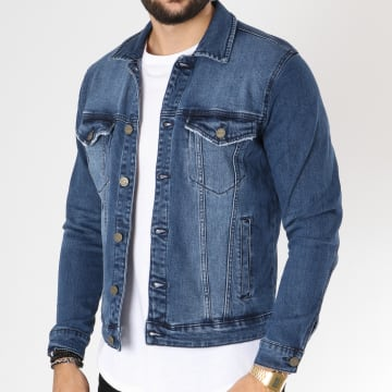 Only And Sons - Veste Jean Coin Bleu Denim